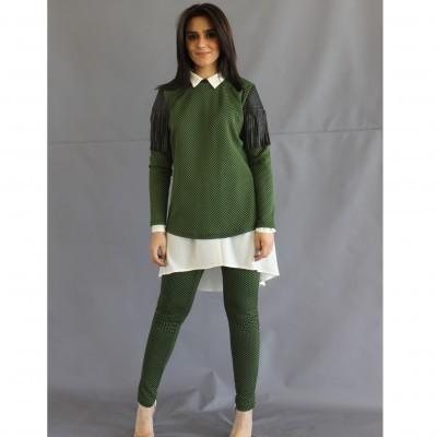 Legging verde Roberta Biagi