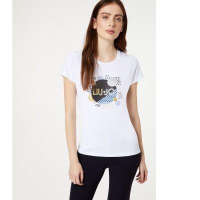 T-shirt branca Liu Jo