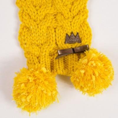 Gorro e Cachecol amarelo mostarda Catimini®️