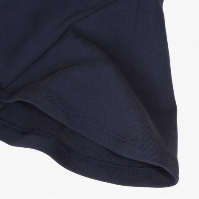 Vestido azul marinho godê Catimini
