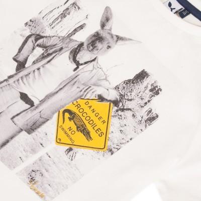 T-shirt branca canguru 3pommes