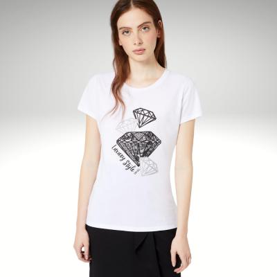 T-shirt branca estampa de diamantes Liu Jo