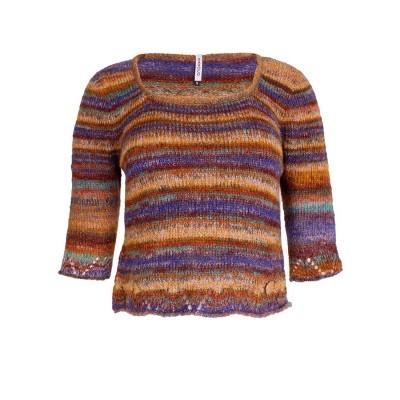 Camisola multicolor de tricot Sahoco