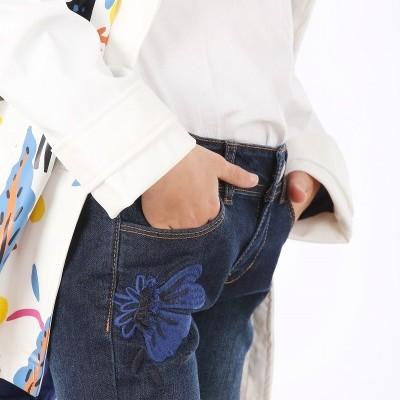 Jeans de lavagem escura Catimini