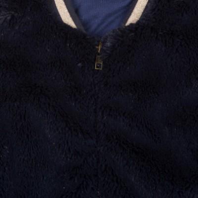 Casaco de pelo infantil azul marinho 3Pommes®️