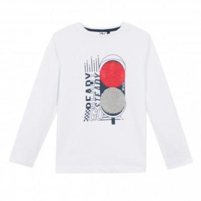 Camisola de algodão semáforos de lantejoulas 3pommes