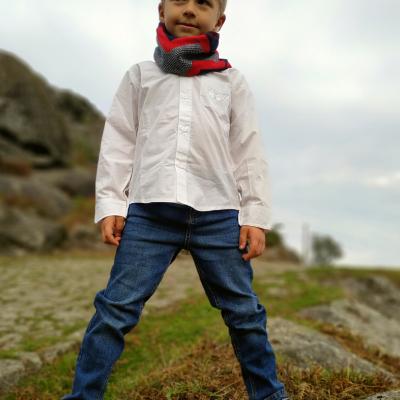 Calça jeans infantil com elastico na cintura 3Pommes®️