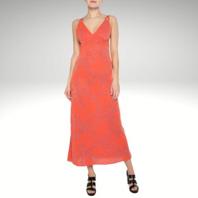 Vestido de malha laranja Liu Jo