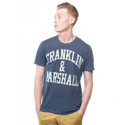 T-shirt azul Franklin & Marshall