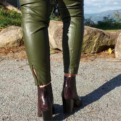 Calça verde de couro sintético Liu Jo®️