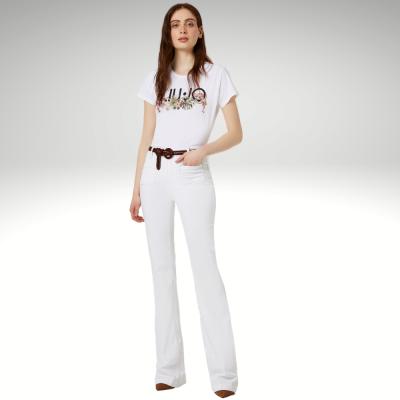 T-shirt branca com padrão frontal Liu Jo