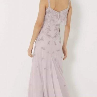 Vestido longo lilás Lipsy London
