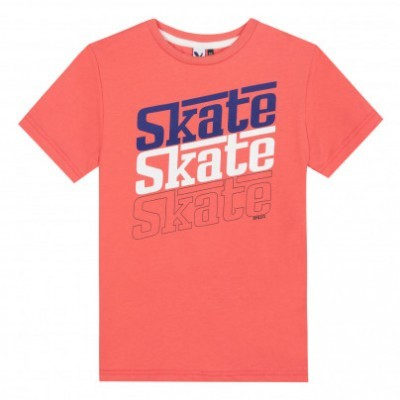 T-shirt infantil menino laranja skate 3pommes