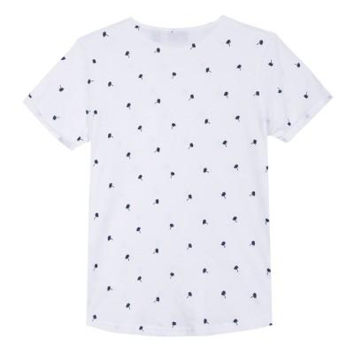 T-shirt branca com estampa de palmeiras Beckaro