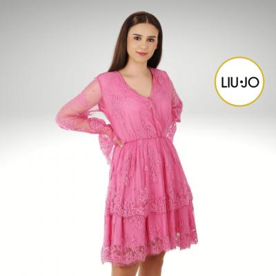 Vestido de renda rosa Liu Jo