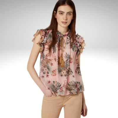 Blusa rosa padrão floral Liu Jo