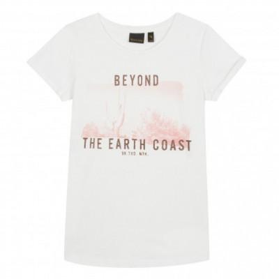 T-shirt branca e rosa Beckaro