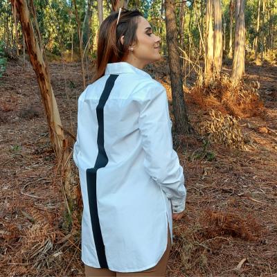 Camisa branca comprida feminina Sahoco®️