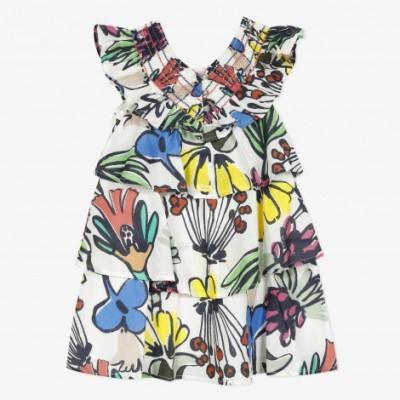Vestido estampado maxi flores Catimini