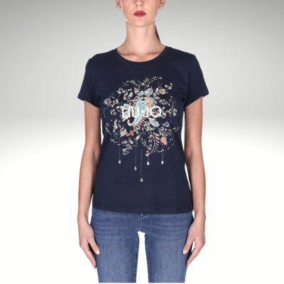 T-shirt azul marinho Liu Jo