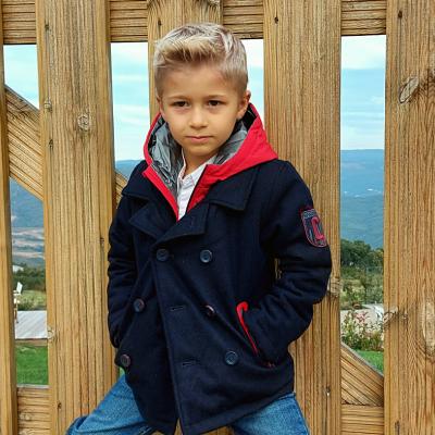Casaco azul marinho infantil com Capuz Catimini®️