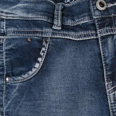 Calça de ganga cintura subida Beckaro