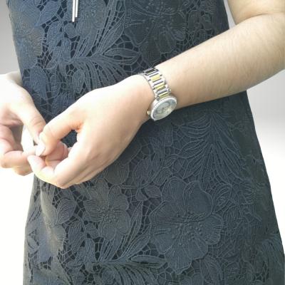 Vestido preto rendado Liu Jo