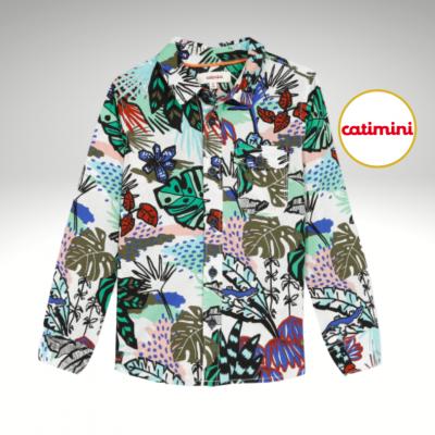 Camisa com padrão floral Catimini