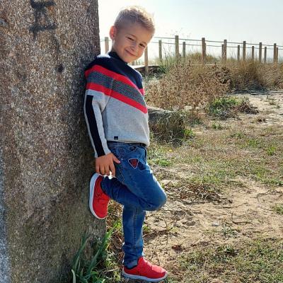 Calça jeans infantil com elastico na cintura Catimini®️