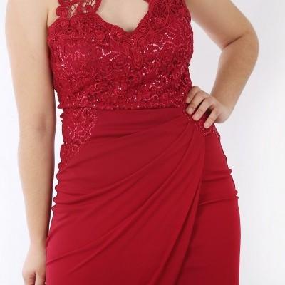 Vestido comprido vermelho Lipsy London