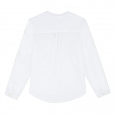 Camisa branca infantil feminina 3Pommes®️