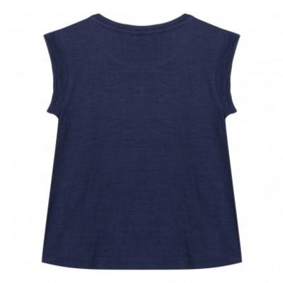 T-shirt azul marinho 3pommes