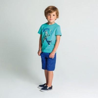 T-shirt azul menta Catimini