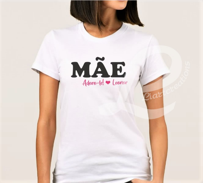 "T-shirt ""Mãe, adoro-te"""