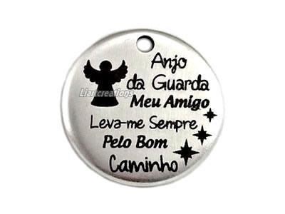 Medalha Zamak Anjo da Guarda