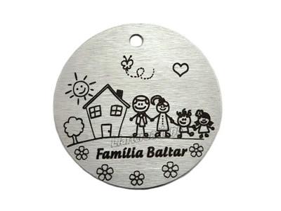 Medalha Alumínio Família 38mm