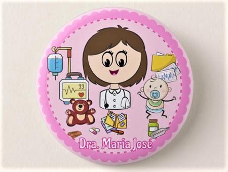 Crachá Personalizável Médico/a Pediatra