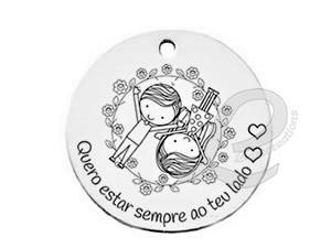 """Medalha Gravação """"Quero estar sempre ao teu lado"""""""