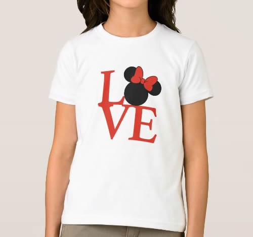 T-shirt Menina Love c/Minnie