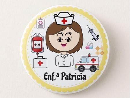 Crachá Personalizável Enfermeira