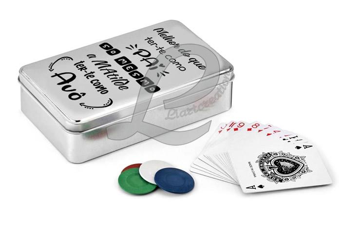 Jogo de Póquer em Caixa de Alumínio Personalizada