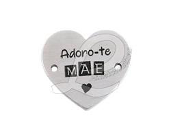 """Conector Alumínio """"Adoro-te- Mãe"""""""