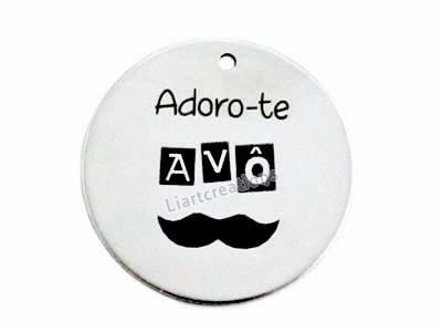 Medalha Zamak  Adoro-te Avô + Bigodes