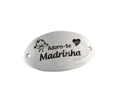 "Conector Oval ""Adoro-te Madrinha"""