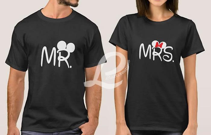 T-shirt  Namorados MR / MRS