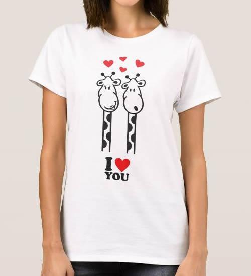 T-shirt Girafas Apaixonadas