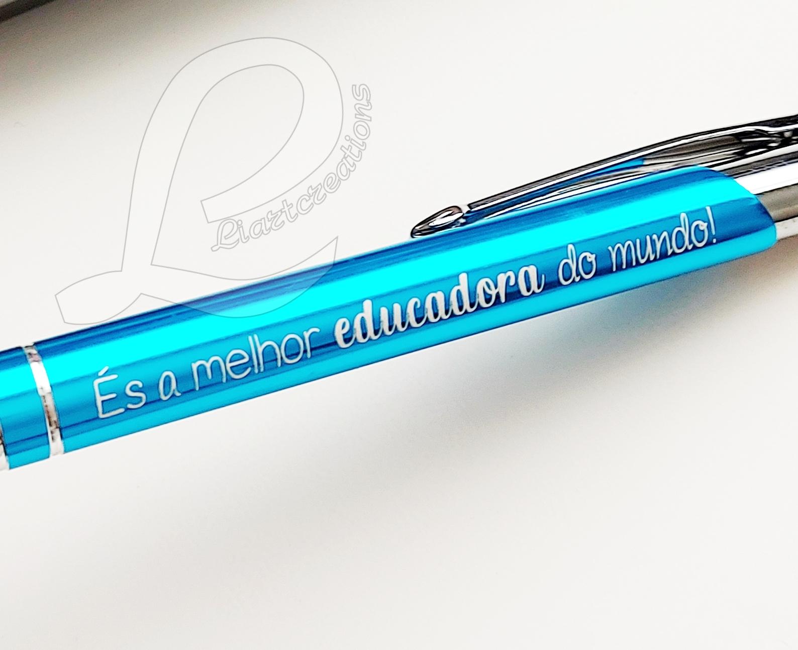 """Conjunto Estojo + Caneta """"Obrigado pelo carinho e dedicação!"""