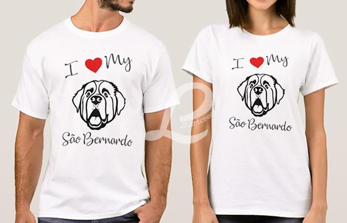 T-shirt I love my São Bernardo