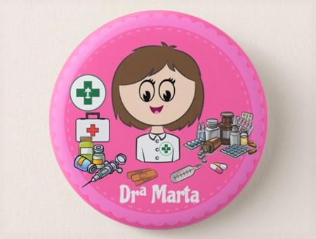 Crachá Personalizável Farmacêutico/a