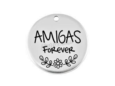 Medalha Zamak Amigas Forever